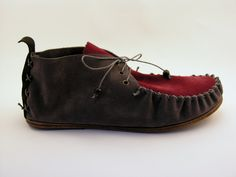 Marc'h leather moccasin Spring - summer 2013 darkgray $149.00, via Etsy.