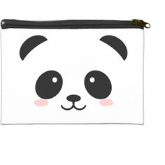 """Cute Cartoon Panda 6"""" x 4"""" Cosmetic Bag 6"""" x 4"""" Cosmetic Bag... (€16) ❤ liked on Polyvore featuring beauty products, beauty accessories, bags & cases, cosmetic bag, toiletry bag, purse makeup bag, makeup purse and cosmetic purse"""
