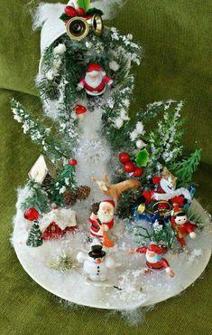 Christmas Decorations Christmas Scene in Teacup; Christmas Tea, Victorian Christmas, Christmas Wreaths, Christmas Ornaments, Christmas Candles, Vintage Christmas, Ornaments Ideas, Christmas Stocking, White Christmas