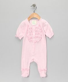 Take a look at this Light Pink Ruffle Organic Footie - Infant by Tutu AND Lulu on #zulily today!