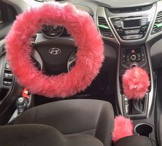 Spoiled Accessories — Lit Fluffy Steering Wheel Covers 3pcs