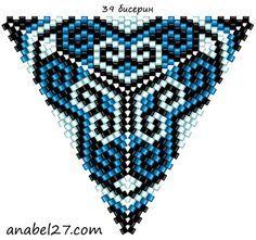 Схемы треугольников - мозаичное плетение 3   - Схемы для бисероплетения / Free bead patterns -