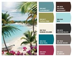 relaxing beachy paint colors