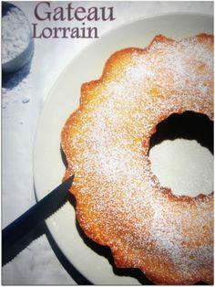 Gateau Lorrain d'Hervé Thermomix Desserts, French Food, Biscuits, Doughnut, Samar, Recipies, Deserts, Sweets, Alsace Lorraine