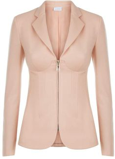 9621503cfd3 La Perla La Perla Desk To Dinner Blush Virgin Wool Corset Jacket With  BuiltIn Bra