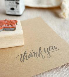 Thank You Calligraphy Stamp by Mint Afternoon on Scoutmob Shoppe