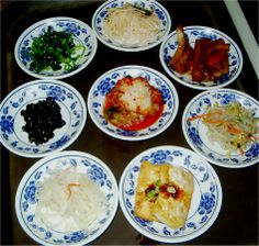 A list and history of Korean Banchan (side dishes).  Several have links to recipes.