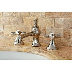 overstock french country polished nickel widespread bathroom faucet with its distinct french design