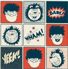 Dennis And Gnasher Squares - Cartoon Museum Shop Dennis The Menace Characters, Book Characters, Cartoon Museum, Museum Shop, Dundee, Nostalgia, Crafts For Kids, Projects To Try, Workshop
