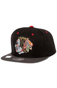 c54e0f15ba407 Mitchell   Ness Hat Chicago Blackhawks Vintage XL Reflective Snapback in  Black   Grey
