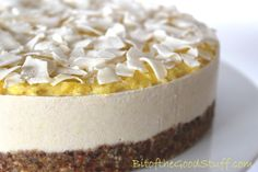 Pina Colada 'Cheesecake' (Dairy-free / Gluten-free / Vegan) | Bit of the Good Stuff