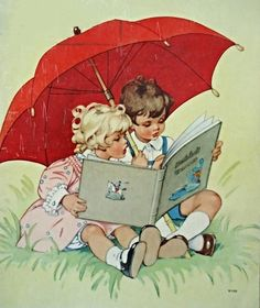 Reading in the rain