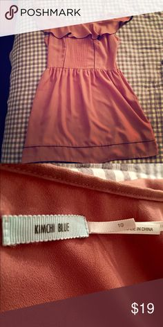 Urban Outfitters Kimchi Blue Pink dress Sz 10 Urban Outfitters Kimchi Blue. Flirty and bouncy off the shoulder dress. Size 10 Kimchi Blue Dresses Mini