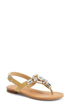 Sole Society 'Angelin' Crystal Sandal (Women) available at #Nordstrom