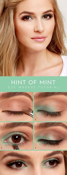 Top 10 Morning in-a-Rush Makeup Tutorials --- Mint Shadow