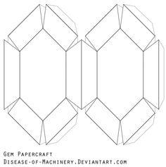 Gem Papercraft Blank by Disease-of-Machinery on deviantART