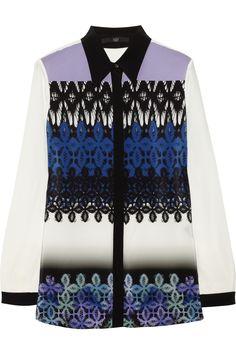 Tibi | Printed silk crepe de chine shirt