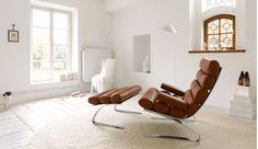 Manifesto Furniture: Cor Sinus Lounge Chair and Ottoman European Furniture, Luxury Furniture, Furniture Design, Upholstered Arm Chair, Chair And Ottoman, Chair Design Wooden, Wooden Chairs, Luxury Chairs, Living Room Chairs
