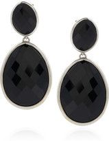 adore this black onyx drop earrings that compliments the little black dress so well.