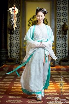 Legend of the Ancient Sword (Gu Jian Qi Tan) - 古剑奇谭 Sword Fantasy, Film China, Chinese Tv Shows, Traditional Gowns, Oriental Fashion, Oriental Style, Hanfu, Princesses, Saree