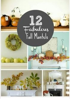 Fabulous fall mantles decorations to help warm up the room. www.celebrationsbykat.com