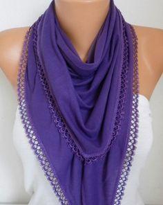 Purple Combed Cotton ScarfFall Shawl Scarf Cowl #blackfriday #scarf #christmas #accessories  #fashion