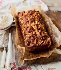 Sticky Apple and Gingerbread Pecan Loaf Cake