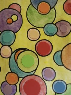 a faithful attempt: 'Shapes on Shapes' Watercolour Painting--Kandinsky