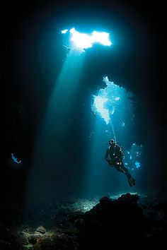 Taken during a scuba dive in Cathedrals, United States by Jonathan