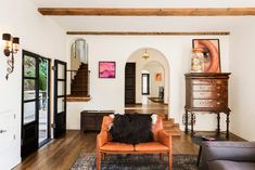 Comedy Couple Paul W. Downs and Lucia Aniello's Laid-Back Hollywood Dream Home | Architectural Digest Furniture Near Me, Furniture Deals, Rustic Furniture, Selling Antique Furniture, Spanish Style Homes, Sofa Sale, Celebrity Houses, Architectural Digest, Historic Homes
