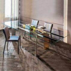 Glass Dining Table, Dining Bench, Sweet Home, Interior Design, Furniture, Home Decor, Houses, Nest Design, Decoration Home