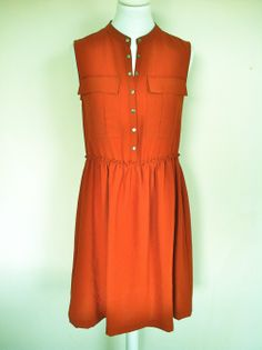 Burberry Brit Burnt Orange Dress via The Queen Bee. Click on the image to see more!