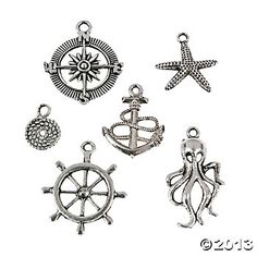 Nautical Charm Assortment, Charms, Beading, Craft & Hobby Supplies - Oriental Trading