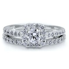 #Sterling Silver Ring Round Cubic Zirconia CZ Ring 2.1 ct.tw - Nickel Free Engagement Wedding Ring Size #4       http://amzn.to/HrJ8M7       This rocks!!