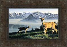 Hurricane Ridge Framed Painting Print