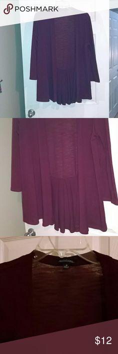 Burgundy cardigan Burgundy/ dark berry slightly flared at waist Notations Sweaters Cardigans
