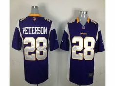 ab5dab6cb4f Nike NFL Game Vikings  28 Adrian Peterson Purple Team Color Men s Stitched  Jersey
