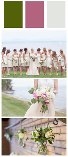 Soft wedding colors perfect for a spring or summer wedding