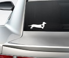 Dachshund with Heart Weiner Dog Window Vinyl Car Decal by Overhemd, $4.95