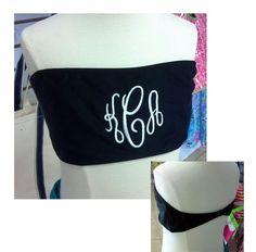 Monogrammed Bikini Top!!! Much Flattering on, tiny manikin!