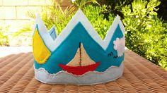 Nautical Felt Birthday Crown by hedyMmartin on Etsy