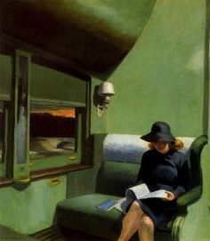 Compartment C, Car 293, Edward Hopper, 1938.