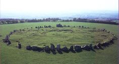The Beltany Stone Circle, or Beltany Tops was built around 2000 BC. This is another example of tight clustering of stones, reminding us of so-called fairy rings. Love these types of circles.