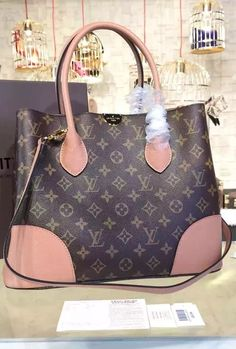 Louis Vuitton Flandrin with Pink Leather Trim.  Check it at http://www.luxtime.su/louis-vuitton-flandrin-m41597-pink