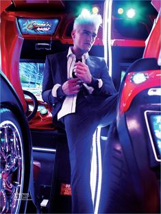 Baptiste Giannesini for Men's Folio Singapore, photographed by Joel Low Neon Photography, Portrait Photography, Night Portrait, Environmental Portraits, Male Fashion Trends, Mens Boots Fashion, Foto Instagram, Portrait Inspiration, Man Photo