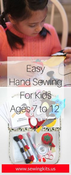 This adorable arts & crafts sewing kit compels kids to drop their electronic games and learn the timeless craft of hand-sewing and creative play. A wonderful shared craft activity for children, siblin