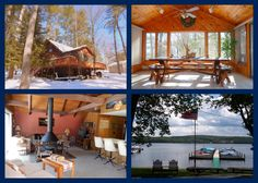 SOLD. Natural light bright 2nd tier #Wallenpaupack cedar Chalet includes boat slip at Locust Grove.