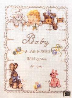 Fantasy Cross Stitch, Cross Stitch Love, Cross Stitch Animals, Cross Stitch Flowers, Baby Cross Stitch Patterns, Cross Stitch Charts, Baby Patterns, Cross Stitching, Cross Stitch Embroidery