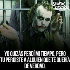 Quizás no quieres darte cuenta Joker Frases, Joker Quotes, Grammar Posters, Chicano Love, Jokes And Riddles, Wife Quotes, Sad Love Quotes, Joker And Harley Quinn, Sarcastic Quotes