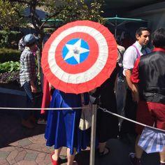 (Dapper Day at Disneyland) I need a Captain America parasol.